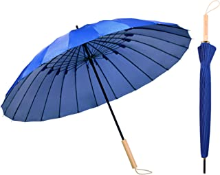 Kung Fu Smith Vintage Parasol Umbrella for Women and Girls - Wood Handle Light Windproof UV Protection and Rain