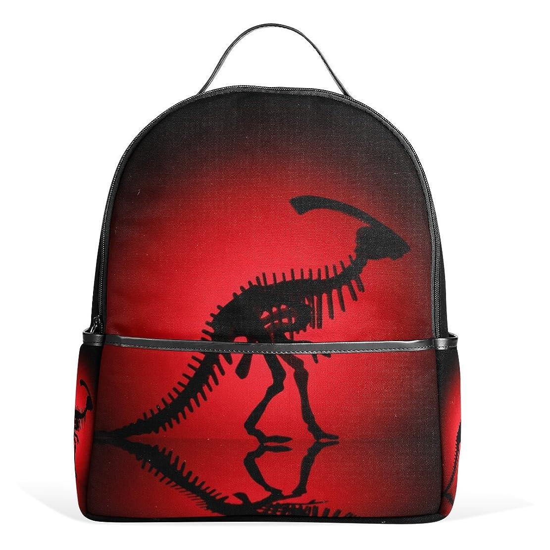 不完全なスコットランド人資料マキク(MAKIKU) リュック レディース おしゃれ 軽量 大容量 通学 通勤 旅行 恐竜 レッド ブラック プレゼント対応