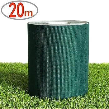 人工芝 テープ 人工芝 固定用 片面テープ 人工芝連結用 接続テープ 強力ワイドタイプ (20M, ダークグリーン)