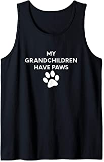 (Dog Paw Graphic) My Grandchildren Have Paws Tank Top