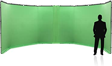 Panoramic Background Connection Kit 2.3m Chroma Key Green.