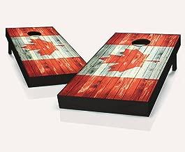 CANADA Canadian Flag Distressed Cornhole Boards Regulation Size Game Set Baggo Bean Bag Toss + 8 ACA Regulation Bags
