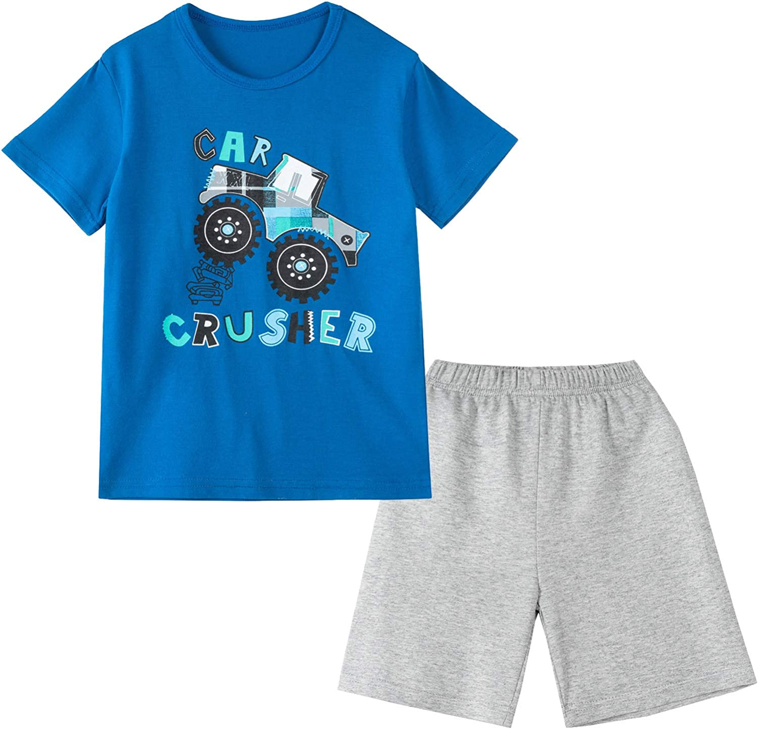 SUNFEID Excellence Toddler Free shipping on posting reviews Boys Shorts Set Cloth Summer Sleeve Short Cotton