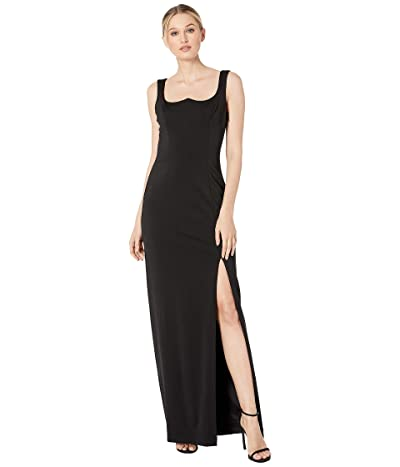 Adrianna Papell Lola Jersey Evening Gown (Black) Women