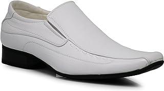 Enzo Romeo JAS Men's Dress Loafers Elastic Slip on with Plain Fashion Shoes