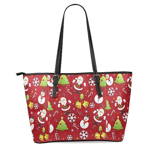InterestPrint Womens Leather Tote Shoulder Bags Handbags