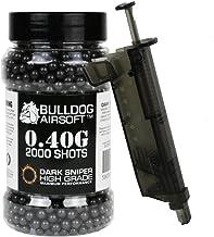 Bulldog 0.40g 2000 Dark Sniper Airsoft BB Pellets Black with Speed Loader