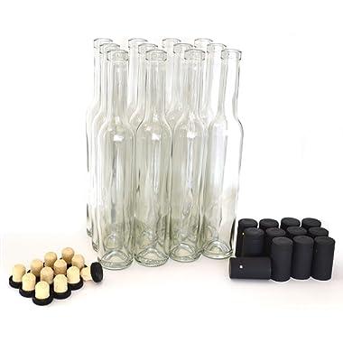 Bellissima Bottles, 375ml, Clear - Case of 12