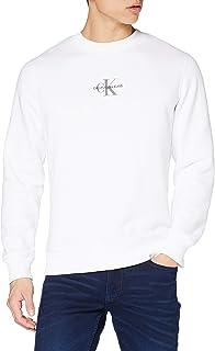 Calvin Klein Jeans Men's Chest Ck Print Crew Neck Sweater