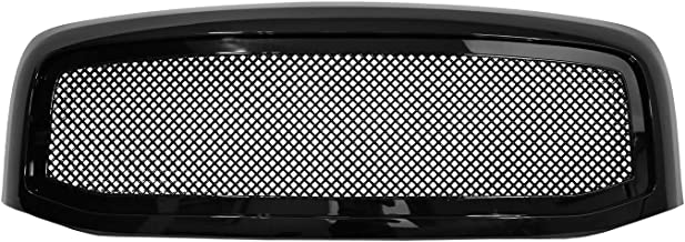 Paragon Front Grille for 2006-08 Dodge Ram 1500/2500/3500 - Gloss Black Grill Grilles with Mesh