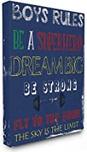 "The Kids Room by Stupell ""Boys Rules The Sky Is The Limit Stretched"" Canvas Wall Art"