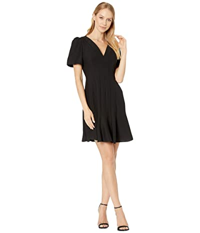 Kate Spade New York Paneled Crepe A-Line Dress (Black) Women