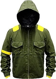 Twenty One Mens 21 Green Pilots Cotton Jumpsuit Hoodie Levitate Camouflage Jacket