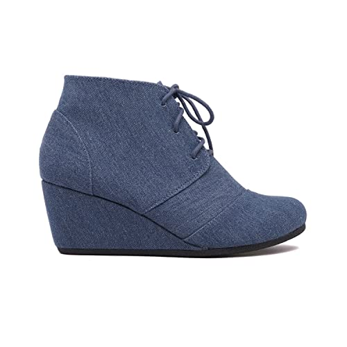Charles Albert Rex Womens Suede Wedges Lace up Bootie