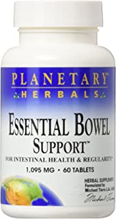 PLANETARY HERBALS Essential Bowel Support for Intestinal Health and Regularity, 60 Count