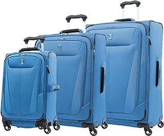 Travelpro Maxlite 5-Softside Expandable Spinner Wheel Luggage, Azure Blue, 3-Piece Set (21/25/29)