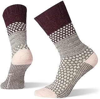 Women's Popcorn Cable Crew Socks - Medium Cushioned Merino Wool Performance Socks