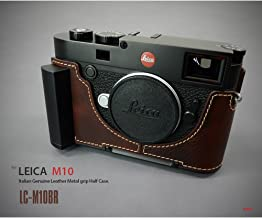Lim's LC-M10BR Metal Grip Genuine Leather Camera Half Case for Leica M10 Brown