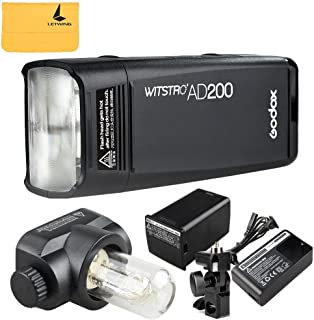 Godox AD200 200Ws 2.4G TTL Flash Strobe 1/8000 HSS Sin Cable Monolight con 2900mAh Litio Batería y Bolsillo Flash Cabeza p...