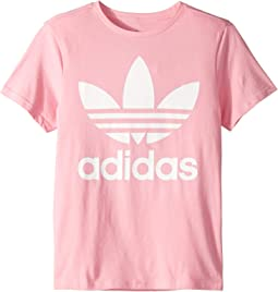 b93fcc01 adidas Originals Kids. Trefoil Tee (Little Kids/Big Kids). $16.99MSRP:  $25.00. Light Pink/White