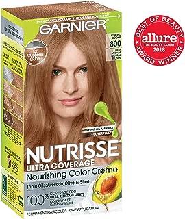 Garnier Nutrisse Ultra Coverage Hair Color, Deep Medium Nautral Blonde (Almond Cookie) 800 (Packaging May Vary), Pack of 1