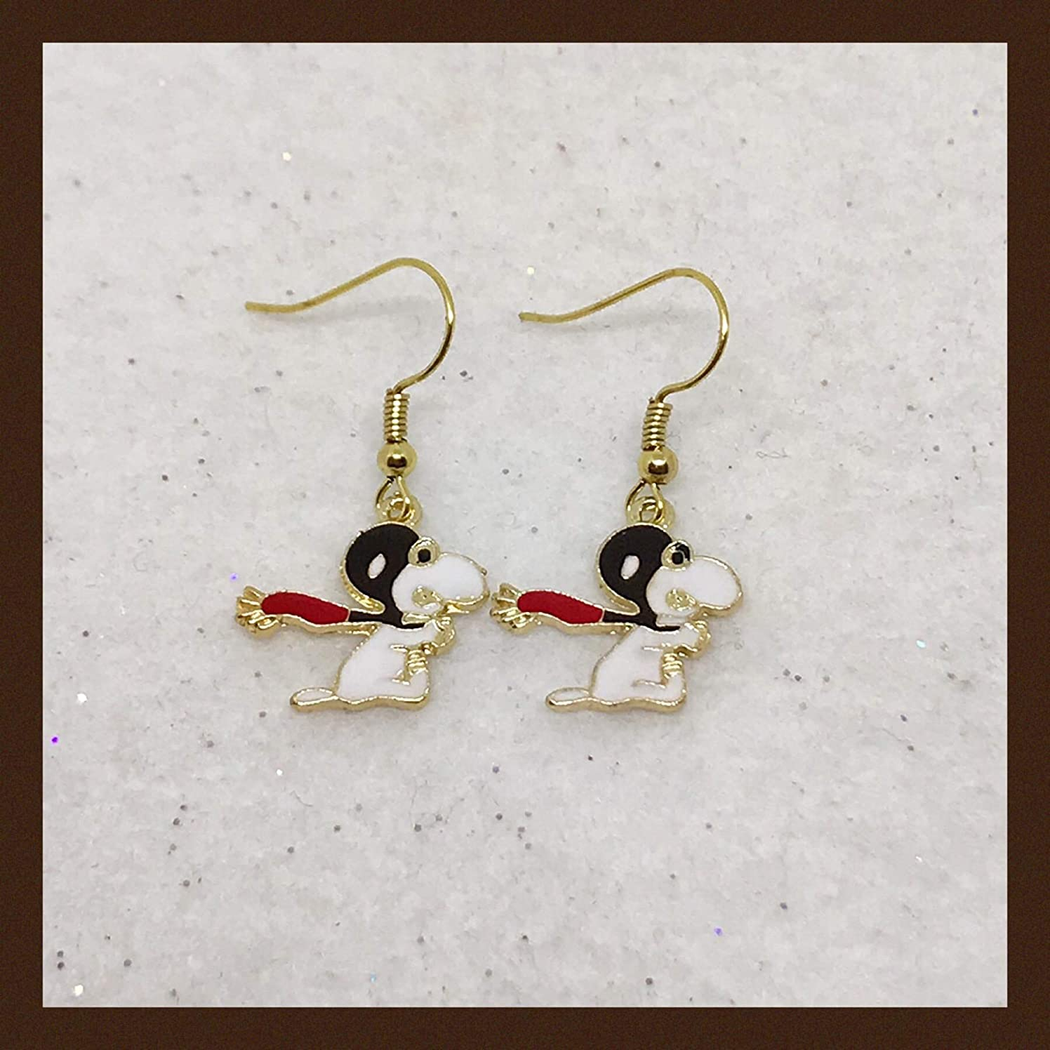 Peanuts Inspired Snoopy VS The Red Baron Earrings