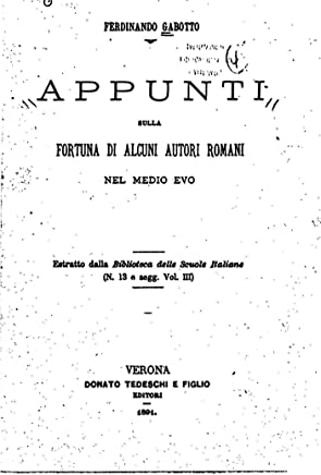 Appunti sulla fortuna di alcuni autori romani
