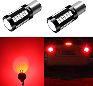 Alla Lighting 2800lm 1141 1156 LED Red Turn Signal Brake Lights Xtreme Super Bright BA15S 7506 1156 LED Bulb High Power 5730 33-SMD 12V LED 1156 Bulb for Car RV Truck Motorcycle Signal Stop Tail Light