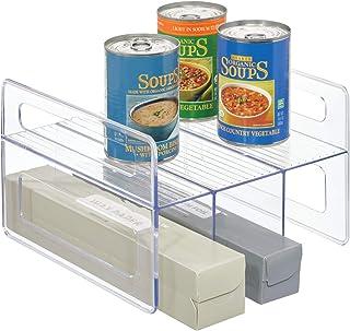 """iDesign Flip Rack Kitchen Cabinet Organizer - 10"""" x 9.66"""" x 6.5"""", Clear"""