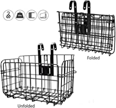 CLISPEED Bicycle Basket Detachable Bike Basket Lift-Off Mesh Cycle Basket with Handles for Kids Girls Boys Woman Outdoor