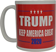 Donald Trump Coffee Mug Keep America Great Trump 2020 Novelty Cup President of The United States MAGA (Red)
