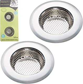 Fengbao 2PCS Bathroom Drain Strainer - Stainless Steel, Small Wide Rim 2.2 Diameter