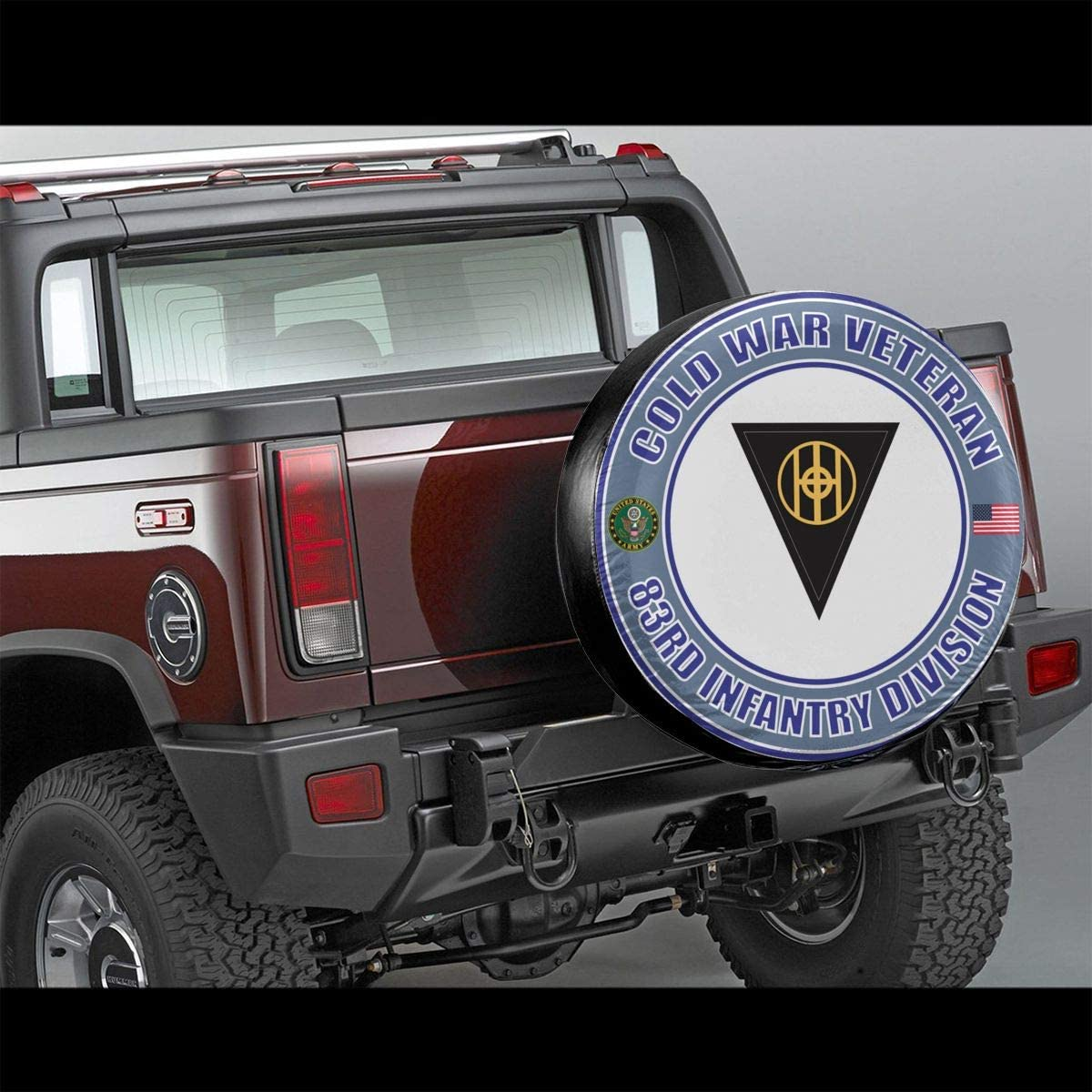 Bosb-00 U.S Army Veteran 25th Infantry Division Spare Tire Type Cover Wheel Fit Truck Jeep RV Ect.
