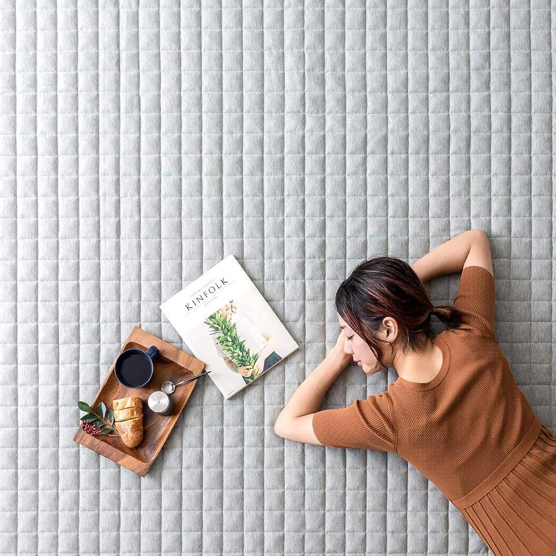 影響力のある振るう翻訳するエア?リゾーム ラグ ラグマット 4畳 洗える 長方形 おしゃれ 北欧 キルトラグ スウェットラグ 200×300cm グレー