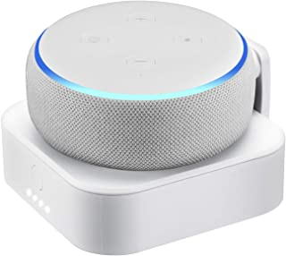 Rechargeable Battery Base for Echo Dot (3rd Gen) - 7000mAh Portable Charger by Wasserstein (White)