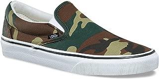 Classic Slip On Woodland Camo Black Men's Classic Skate Shoes Size 10
