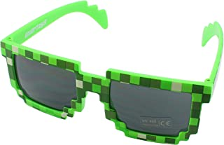Pixel Kids Sunglasses - Novelty Retro Gamer Geek Glasses for Boys and Girls Ages 6+ by EnderToys