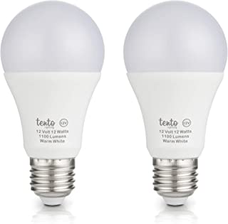 12v Edison Bulbs E26 100w Equivalent Bright 1200 Lumens 12 Volt E27 Base Edison Base Marine RV Light Bulbs Off-Grid Lighting Solar Powered LED 12 Volt Bulbs (Warm White 3000k)