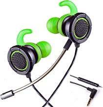 HERMEPER Headphones A16 with 3.5mm 4pole Plug fits for PS4, PC, Xbox one, Mobile Phone, iPad and Table PC(Green)