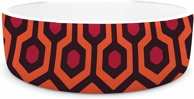 KESS InHouse Alias The Overlook  orange Abstract Pet Bowl, 7