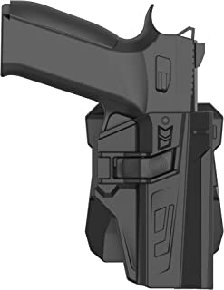 efluky CZ P07 P09 Paddle Holster, Tactical Outside Waistband Holster with 360°Adjustable Cant, OWB Carry, RH