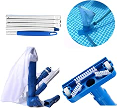 Limpiador de chorro de vacío para piscinas, tipo de boquilla, minifuentes, automáticos, accesorios de limpieza con barra telescópica de 120 cm