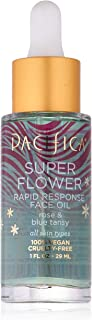 Pacifica Beauty Super Flower Rapid Response Rose Face Oil, Soothes Irritated Skin, Vegan and Cruelty Free, ...