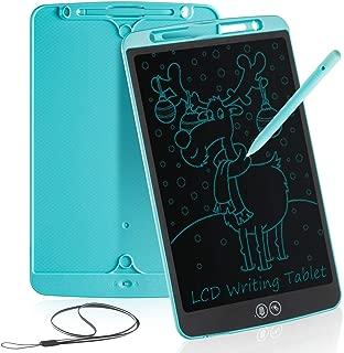 Tableta de Escritura LCD 12 Inch Aprendizaje Escribir Borrado Parcial Almohadilla de Dibujo Doodle Inteligente para Oficina Escuela o en Casa Tableta de Gráfica Portátil para Niños y Adultos(Azul)