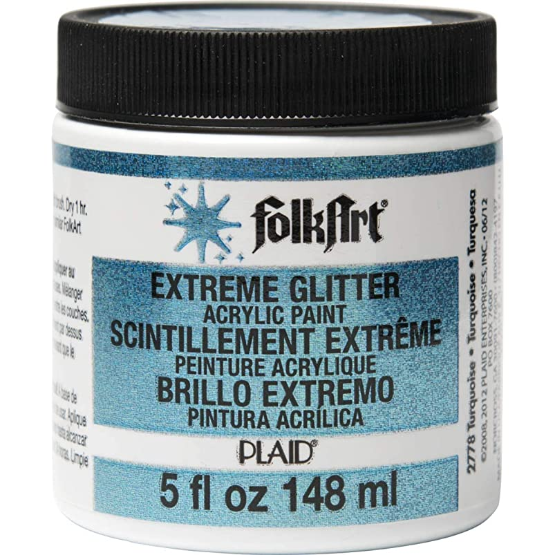 FolkArt Extreme Glitter Acrylic Paint in Assorted Colors (5-Ounce), 2778 Turquoise smnzsyqo574497