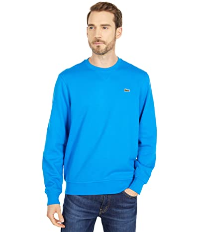 Lacoste Long Sleeve Solid Color Sweatshirt (Ultramarine/Ultramarine) Men