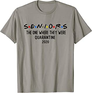 Class Of 2020 Graduation Senior Quarantine Funny T-Shirt