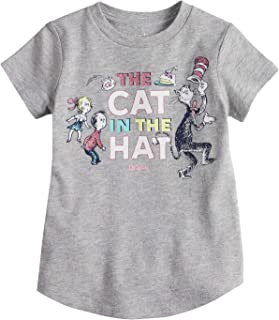 Toddler Girls 2T-5T Dr. Seuss' The Cat in The Hat Glitter Graphic Tee