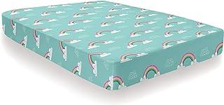 Bedlam Rainbow Unicorn-Fitted Sheet, Multicolour, Single