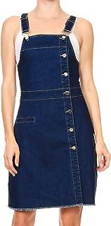 Womens 90s Fashion Adjustable Strap Denim Jean Overall Dress